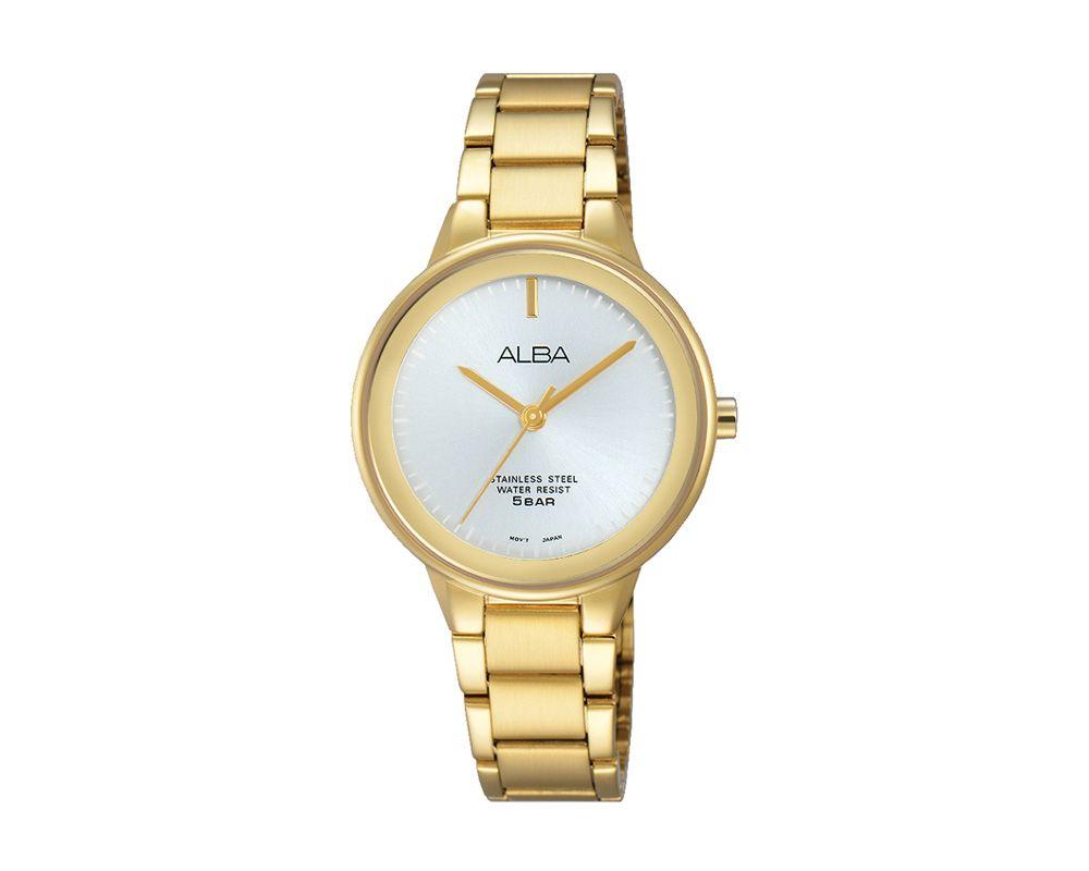ALBA Ladies' Hand Watch FASHION Stainless Steel Bracelet , Silver Dial ARSY68X1