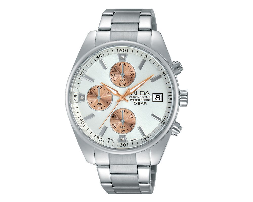 ALBA Ladies' Hand Watch PRESTIGE Stainless Steel Band And Silver White Dial & Water Resistant AM3217X1