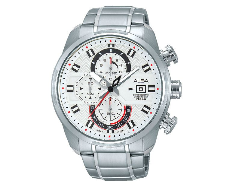 ALBA Men's Hand Watch ACTIVE Stainless Steel Bracelet , White Dial AM3237X1