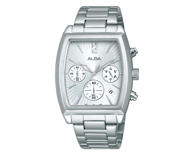 ALBA Ladies' Hand Watch FASHION Stainless Steel Bracelet and Silver Dial AT3697X1