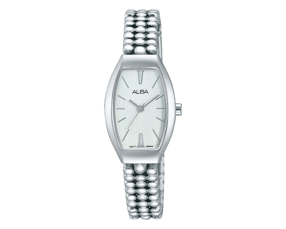 ALBA Ladies' Hand Watch Fashion Stainless Steel Band & Silver White Dial AH8253X1