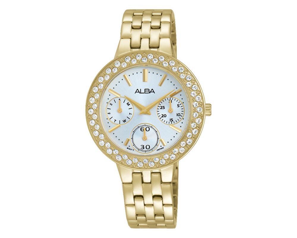 ALBA Ladies' Hand Watch Fashion Stainless Steel Band & Silver White Dial AP6464X1