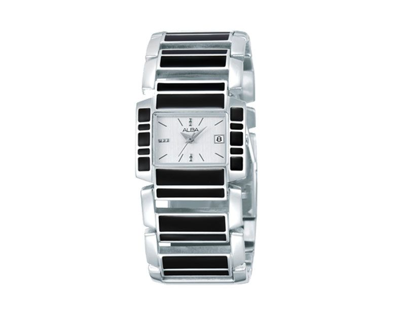 ALBA Ladies hand watch Fashion Stainless steel band & Silver dial AXT947X