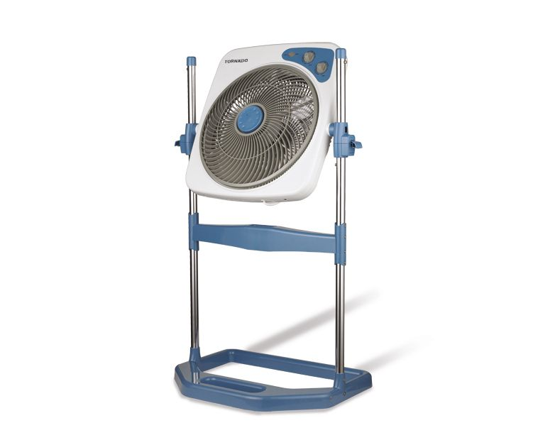 TORNADO Box Stand Fan 14 Inch With 4 Plastic Blades and 4 Speeds In Blue Color B-BXS-35