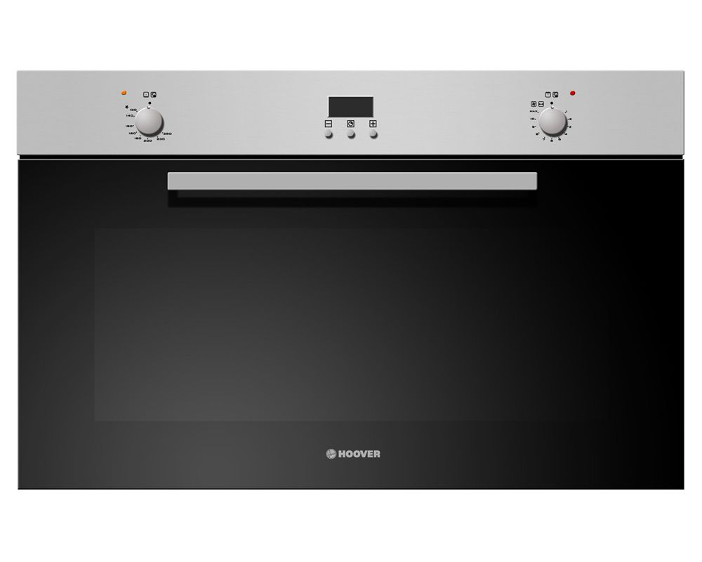 Hoover Built-In Gas Oven Italy 90x60 cm 93 Liter Stainless Steel Color With Convection Fan HGGF92DD