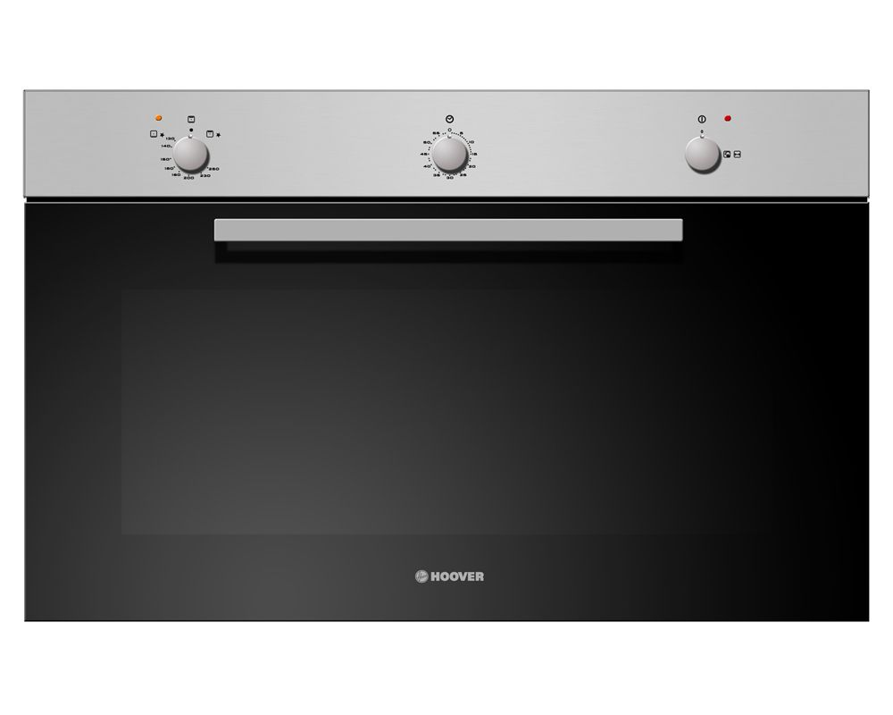 Hoover Built-In Gas Oven Italy 90x60 cm 93 Liter Black Stainless Steel Color With Grill HGG93