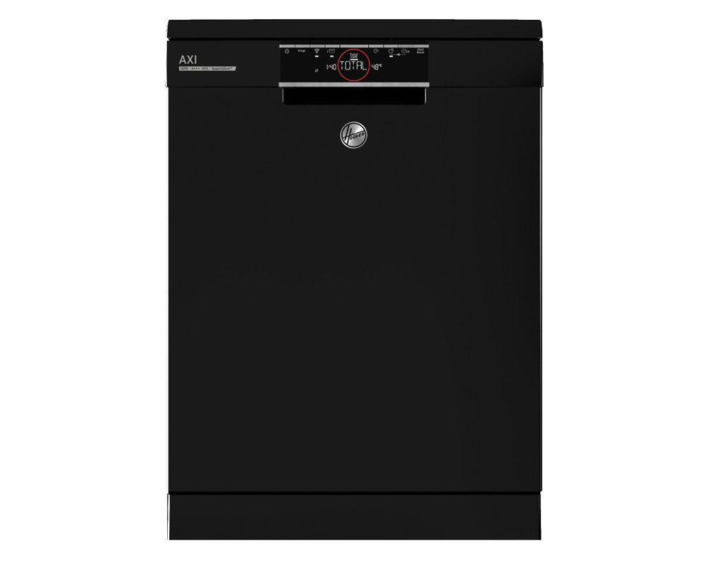 HOOVER Dishwasher For 16 Person 60 cm In Black Color With Digital Display and 12 Programs HDPN4S603PB-EGY