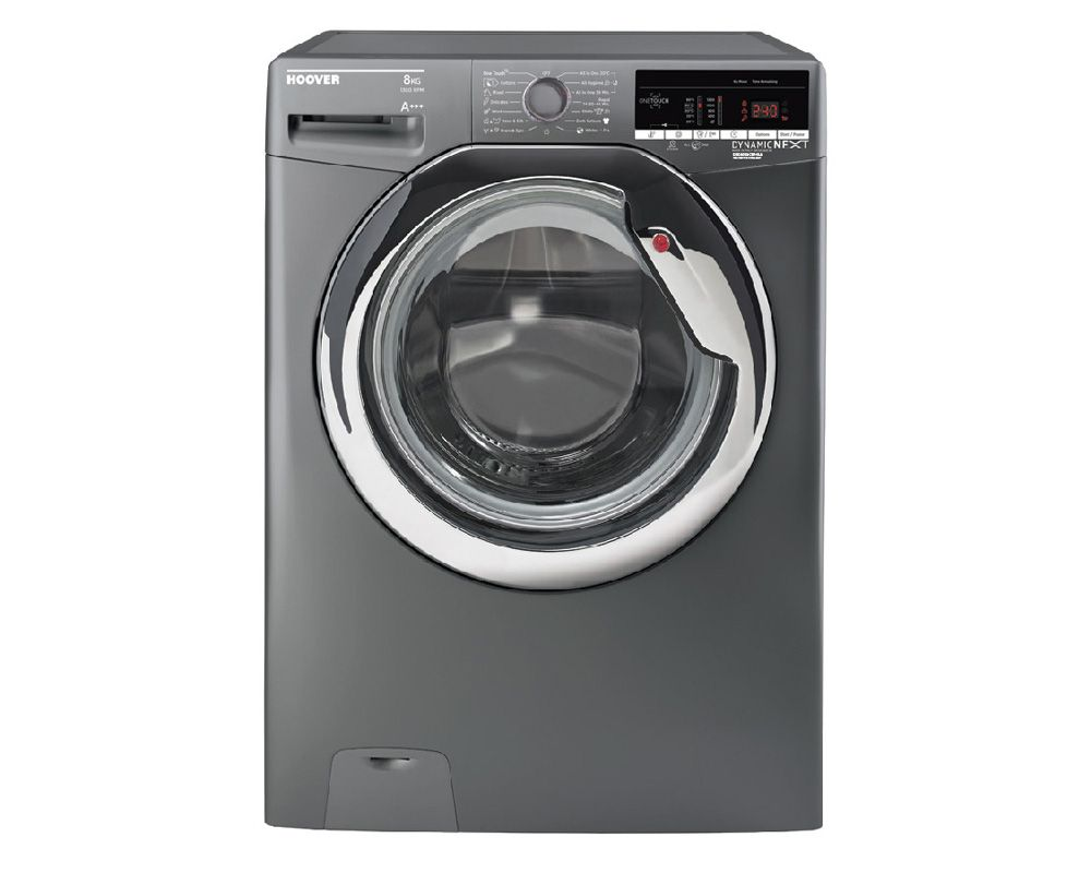 HOOVER Washing Machine 8 Kg Fully Automatic Silver Color DXOA38AC3R-ELA