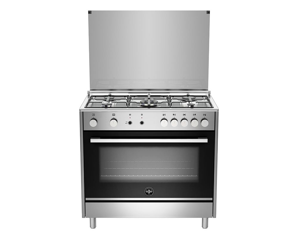LA GERMANIA Freestanding Cooker 90 x 60 cm 5 Gas Burners In Stainless X Black Color TUS95C31DX/1