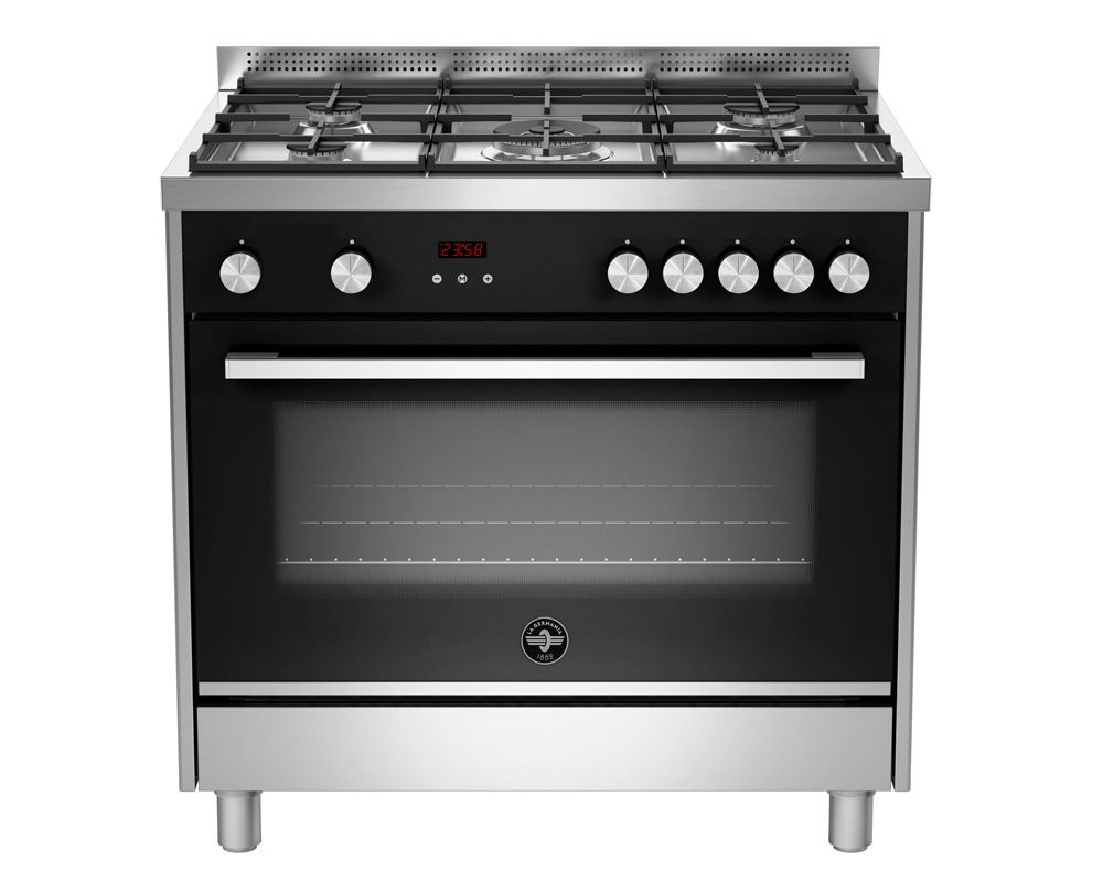LA GERMANIA Freestanding Cooker 5 Gas Burners In Stainless X Black Color TUS95C81BX/1