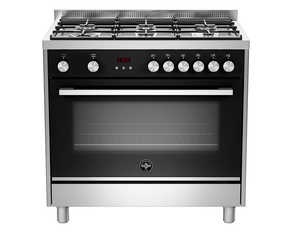 LA GERMANIA Freestanding Cooker 6 Gas Burners In Stainless X Black Color TUS96C81BX/1