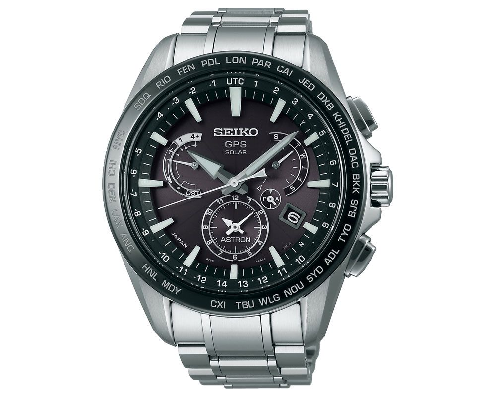 SEIKO Men's Astron Hand Watch with stainless steel band & water resistant SSE077J1