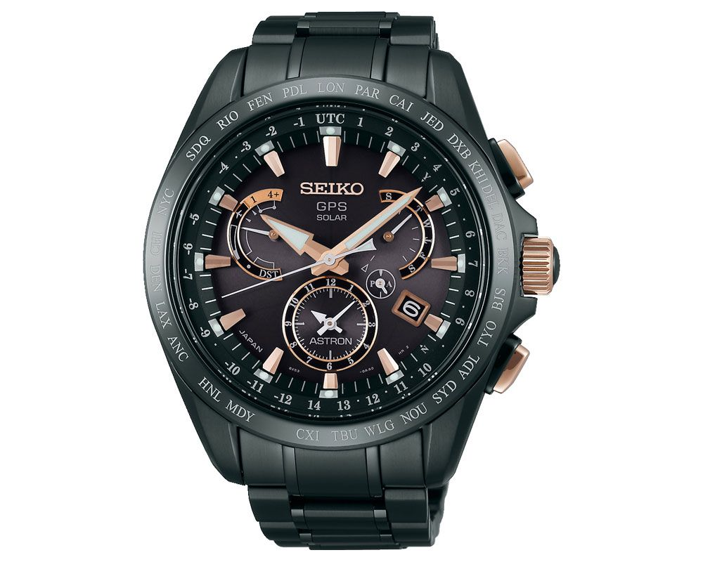 SEIKO Men's Hand Watch Astron with titanium band & water resistant SSE075J1