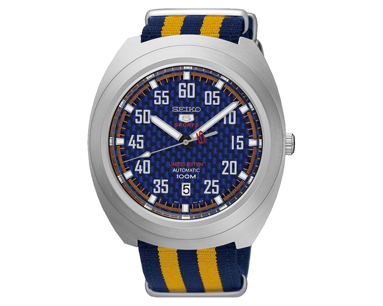 SEIKO Men's Hand Watch Automatic with nylon band & water resistant SRPA91J1