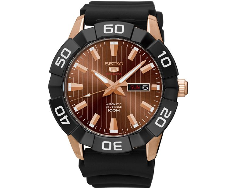 SEIKO Men's Automatic Hand Watch with rubber band & water resistant SRPA58J1