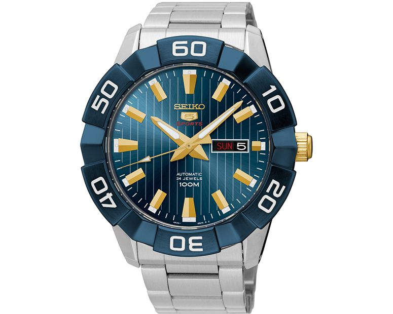 SEIKO Men's Automatic Hand Watch with stainless steel band & water resistant SRPA53J1