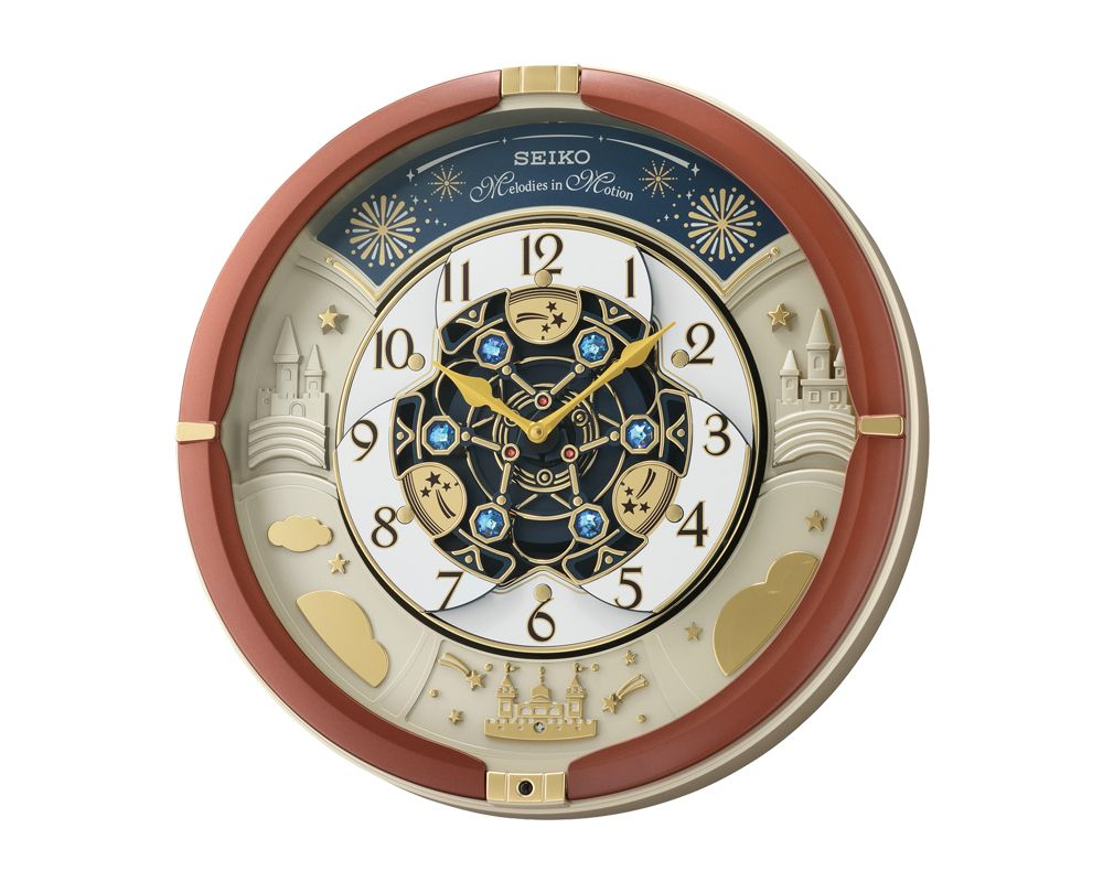 SEIKO Wall Clock Melody In Motion , Plastic Case With Light Sensor QXM378B