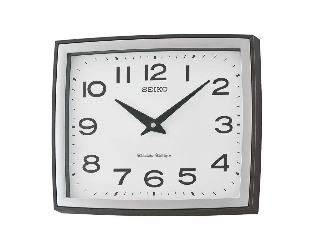 EIKO Wall Clock Plastic Case With Automatic Chime Silencer QXD211K