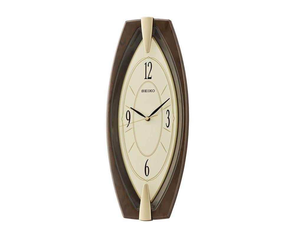 ساعة حائط سيكو برواز بلاستيك QXA342B
