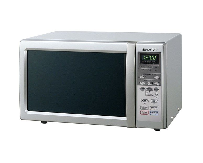 Sharp Microwave Solo 22 Litre, 800 Watt in Silver Color and 3 Cooking Menus  R-241R(S)