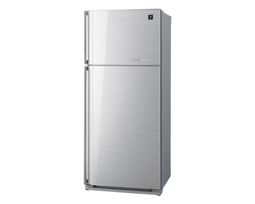 Sharp Refrigerator 2 Door 627L with Plasma cluster Glass Silver color SJ-GC75V-SL
