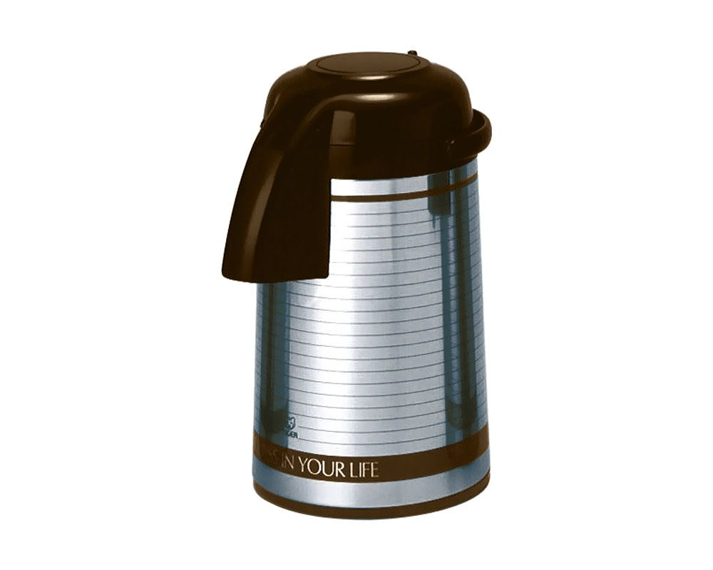 Tiger Stainless Steel Thermos 3 Litre Capacity, In Stainless x Brown Color PNM-B30S