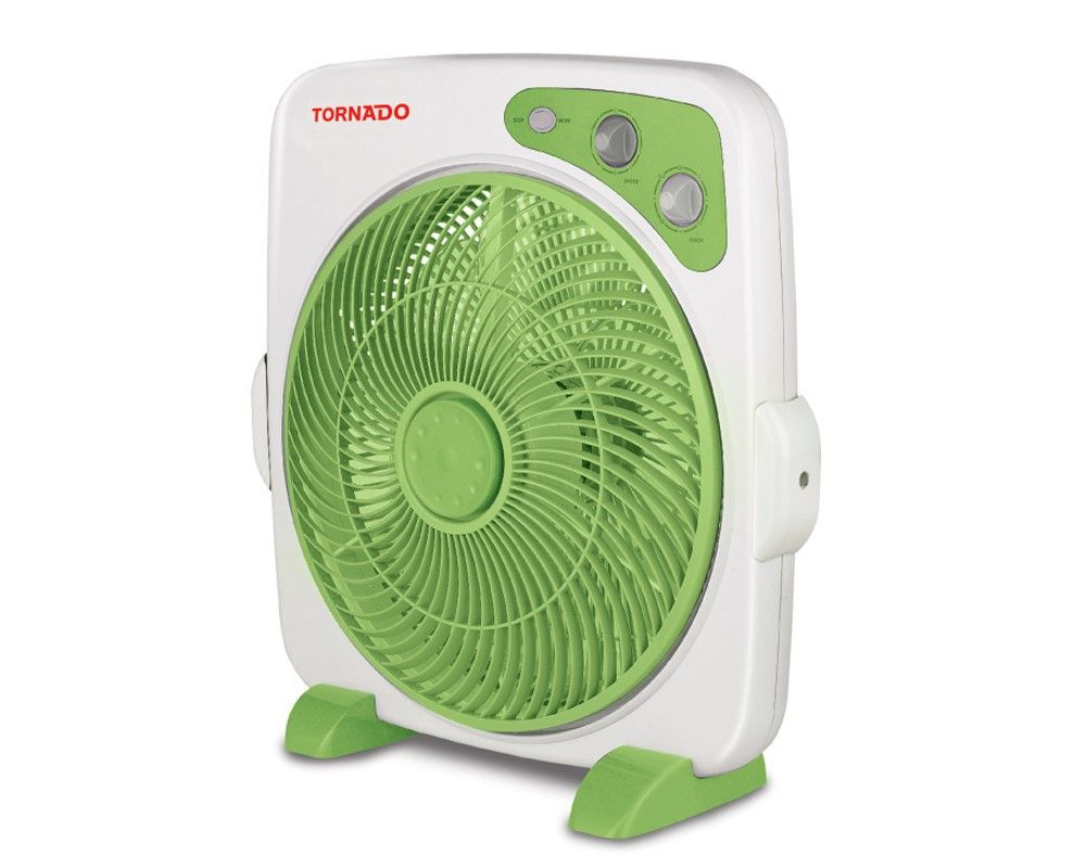 TORNADO Box Fan 14 Inch With 4 Plastic Blades and 4 Speeds In Green Color B-BXT-35