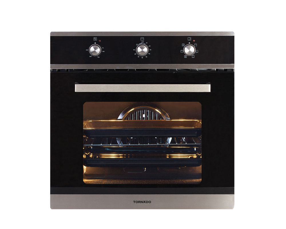 Tornado Electric Oven Stainless Steel with Convection Fan and Grill 64 Liters OV60EMFFS-1