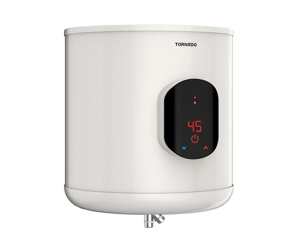 سخان مياه تورنيدو كهرباء 35 لتر لون أوف وايت مزود بشاشة ديجيتال EWH-S35CSE-F