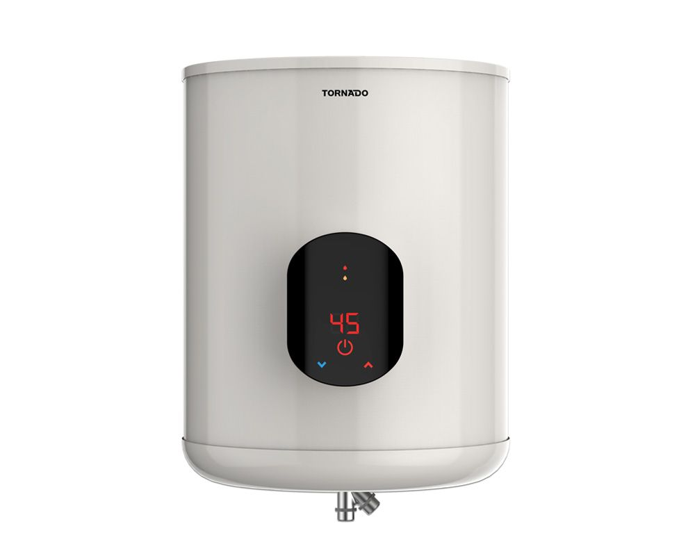 TORNADO Electric Water Heater 45 Litre In Off White Color With Digital Screen EWH-S45CSE-F