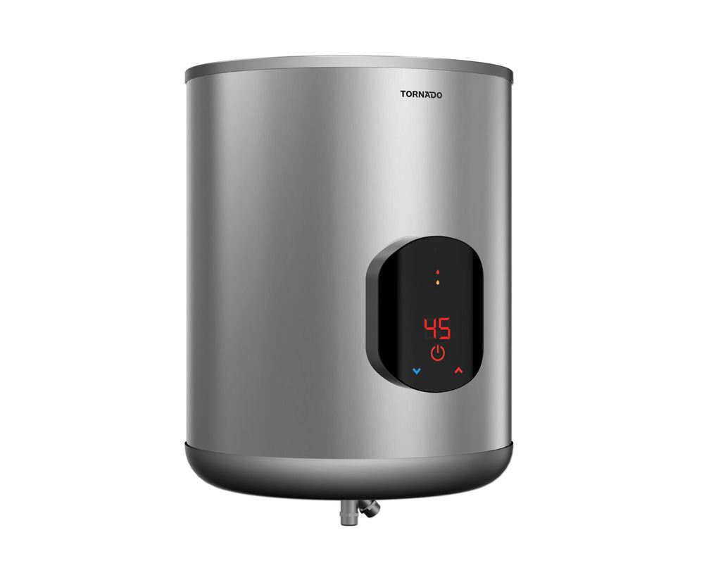 Tornado Electric Water Heater 45 Litre in Silver Color with Digital Screen EWH-S45CSE-S