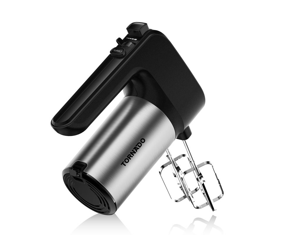 TORNADO Hand Mixer 300 Watt With 6 Speeds and Turbo Speed In Black Color THM-300W