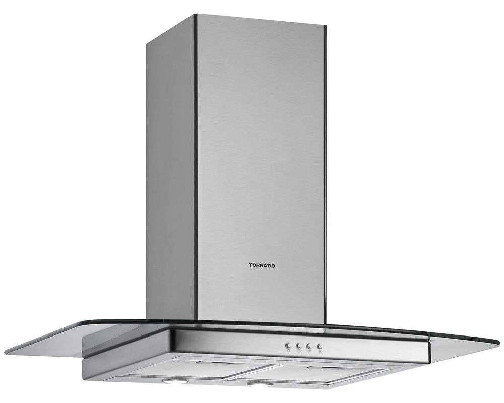 TORNADO Kitchen Cooker Hood 90 cm With 3 Speeds in Stainless Color HOS-M90ESU-S
