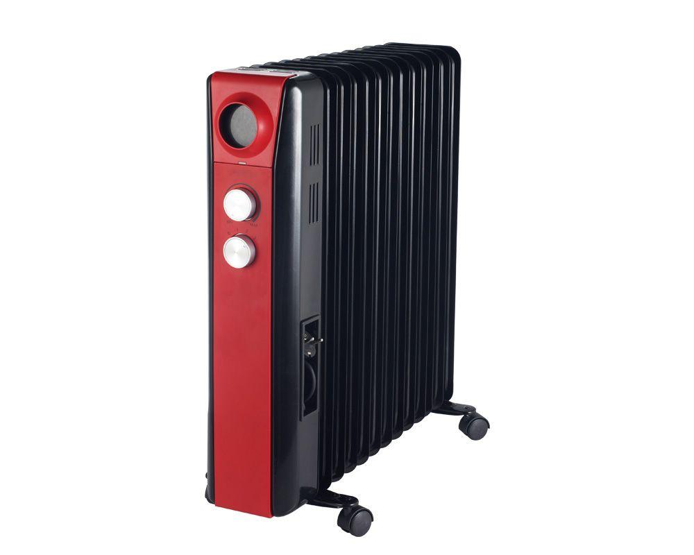 Tornado Oil Heater 15 Fins 3000 Watt With Black X Red Color & 3 Heat Settings TOH-15R