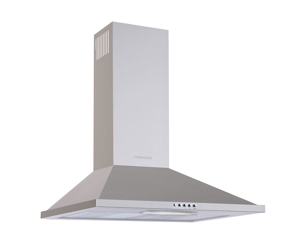 Tornado Kitchen Cooker Hood Stainless 60cm With Push Button HO60PS-1