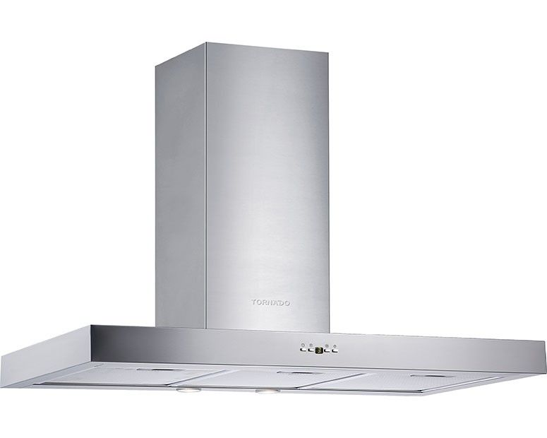 Tornado kitchen Cooker Hood Stainless 90cm With Touch Control Panel HO90DS-1