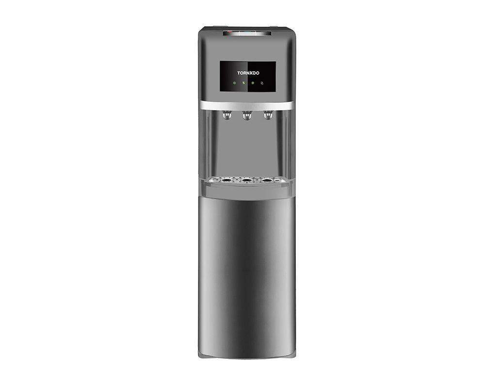 TORNADO Water Dispenser, 3 Faucets, Bottom Bottle, Silver WDM-H40ADE-S