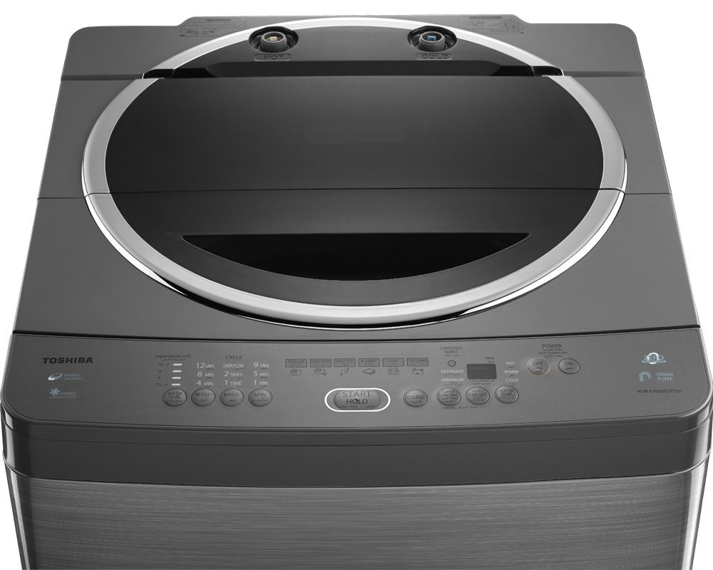 Toshiba Washing Machine 10 Kg Top Automatic With Pump Silver Color AEW-E1050SUP(SS)