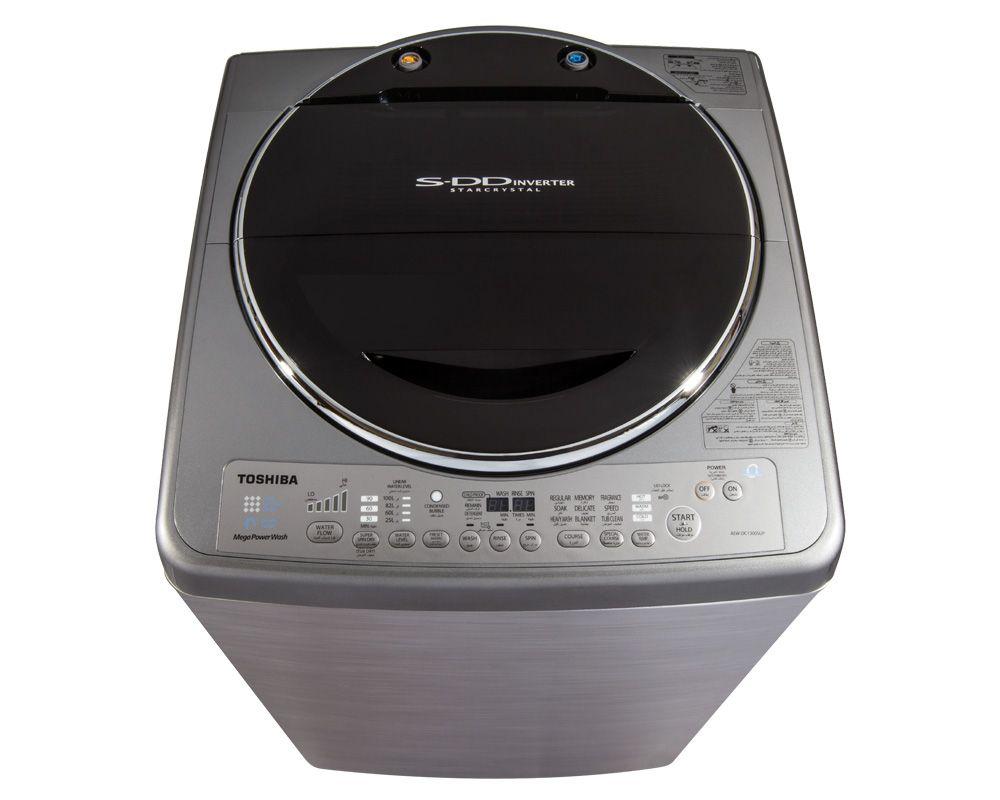 TOSHIBA Washing Machine Top Automatic 13 Kg, SDD Inverter, Silver AEW-DC1300SUP(SS)