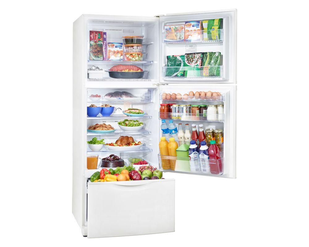 Toshiba Refrigerator 3 Door 307 Litre White Color No frost GR-EFV35-W