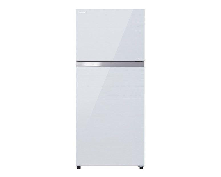 Toshiba Refrigerator Inverter 409L With 2 Door White Glass GR-TG46UDZ-E(ZW)