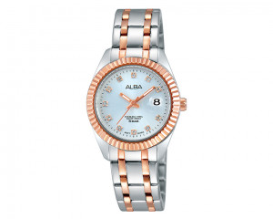 Alba LADIES' hand watch fashion silver dial and stainless steel band AH7F98X1