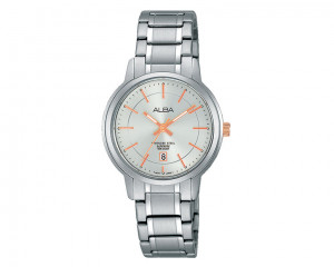 ALBA Ladies' hand watch Prestige Silver white dial and water resistant AH7G81X1