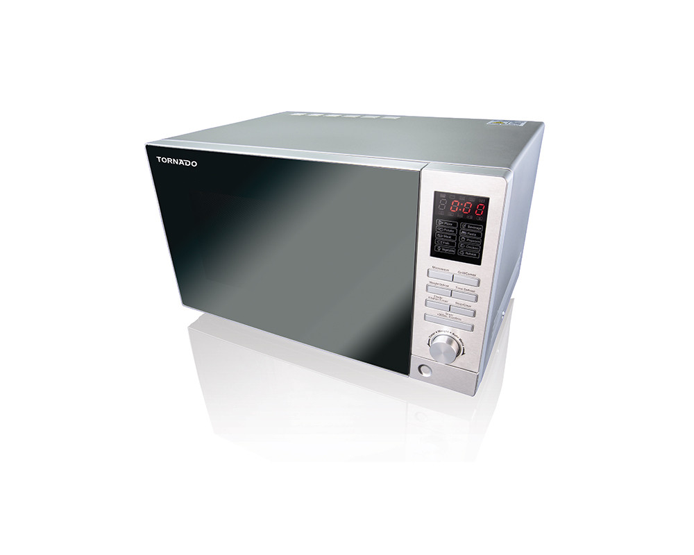 Tornado Microwave 25 Liters Silver Color with Grill & Timer TM-25S