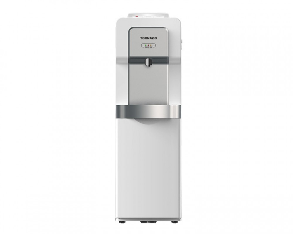 Tornado Water Dispenser Silver With Faucet and Fridge WD-R35-S