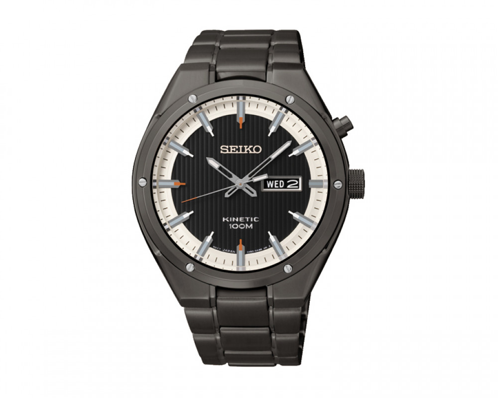 SEIKO Men's Hand Watch Kinetic Stainless Steel Band & 1 Year Warranty SMY153P1
