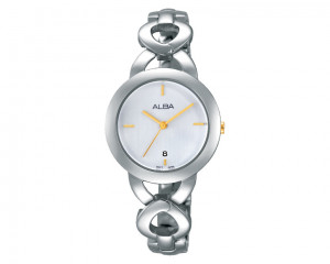 ALBA Ladies' hand watch Fashion Stainless steel band & Silver white dial AH7G97X1