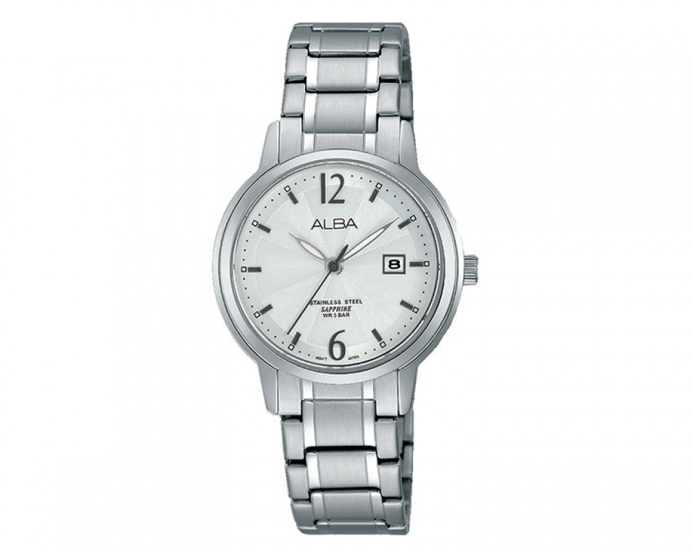 ALBA Ladies' hand watch Prestige Silver white dial and water resistant AH7G91X1