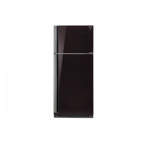 Sharp Refrigerator 642 Litre Inverter 2 Glass Black Door with Plasma Cluster SJ-GP75D-BK