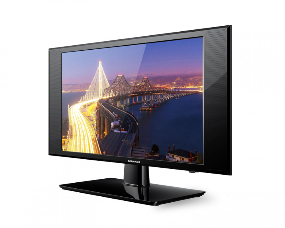 Tornado LED TV 24 Inch HD with 1 USB Movie and 2 HDMI Inputs 24M1360
